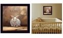 "Trendy Decor 4U Ruby the Rabbit by Bonnie Mohr, Ready to hang Framed Print, Black Frame, 14"" x 14"""