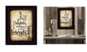 "Trendy Decor 4U Friends By Susan Boyle, Printed Wall Art, Ready to hang, Black Frame, 14"" x 20"""