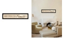 """Trendy Decor 4U Home Is By Lauren Rader, Printed Wall Art, Ready to hang, Black Frame, 38"""" x 8"""""""