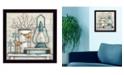 "Trendy Decor 4U Lantern on Books By Mary June, Printed Wall Art, Ready to hang, Black Frame, 14"" x 14"""