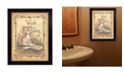 """Trendy Decor 4U Wash Day By Mary June, Printed Wall Art, Ready to hang, Black Frame, 10"""" x 12"""""""