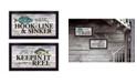 "Trendy Decor 4U Trendy Decor 4U Fishing Combo 2-Piece Vignette by Robin-Lee Vieira, Black Frame, 20"" x 11"""