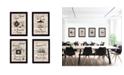 """Trendy Decor 4U Trendy Decor 4U Friendship Collection 4-Piece Vignette by Millwork Engineering, Black Frame, 10"""" x 14"""""""