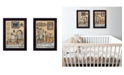 "Trendy Decor 4U Where Family Friends Gather II 2-Piece Vignette by Mary Ann June, Black Frame, 14"" x 20"""