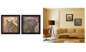 """Trendy Decor 4U Wildlife Collection Collection By Barb Tourtillotte, Printed Wall Art, Ready to hang, Black Frame, 28"""" x 14"""""""