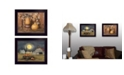 """Trendy Decor 4U Pumpkin Space Harvest Collection By Billy Jacobs, Printed Wall Art, Ready to hang, Black Frame, 18"""" x 14"""""""