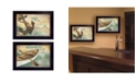 """Trendy Decor 4U Memories at the Lake Collection By Marla Rae, Printed Wall Art, Ready to hang, Black Frame, 40"""" x 14"""""""