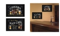 """Trendy Decor 4U Cheers Collection By Debbie DeWitt, Printed Wall Art, Ready to hang, Black Frame, 40"""" x 14"""""""