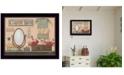 "Trendy Decor 4U Country Bath By Pam Britton, Printed Wall Art, Ready to hang, Black Frame, 18"" x 14"""