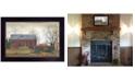 "Trendy Decor 4U Pumpkin Wagon by Billy Jacobs, Ready to hang Framed Print, Black Frame, 20"" x 14"""