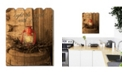 """Trendy Decor 4U Light the World by Anthony Smith, Printed Wall Art on a Wood Picket Fence, 16"""" x 20"""""""