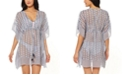 Jessica Simpson Moroccan Stripe Printed Caftan Swim Cover-Up