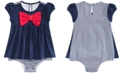 First Impressions Baby Girls Bow-Front Cotton Skirted Sunsuit, Created For Macy's