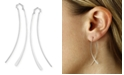 Macy's Curved Wire Threader Earrings Set in 14k White Gold