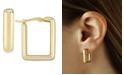 Macy's Square Hoop Earrings Set in 14k Yellow Gold
