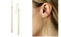 Macy's Sleek Column Drop Earrings Set in 14k Gold