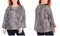 NY Collection Plus Size Animal Print Top