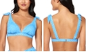 Jessica Simpson On the Spot Printed Bow Triangle Bikini Top