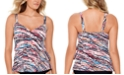 Swim Solutions Hot Rock Printed Tiered Tankini, Created for Macy's