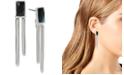 Robert Lee Morris Soho Silver-Tone Stone Geometric Stick Drop Earrings
