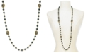 """Charter Club Gold-Tone Crystal & Imitation Pearl Burst Strand Necklace, 42"""" + 2"""" extender, Created For Macy's"""
