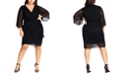 City Chic Trendy Plus Size Dress Softly Faux-Wrap Dress