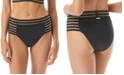 Vince Camuto Coast Lines Strappy Mesh High-Waist Bottoms