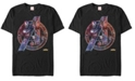 Marvel Men's Avengers Endgame Neon Heros Logo, Short Sleeve T-shirt