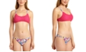 California Waves Juniors' Crochet Bralette Bikini Top & Hipster Bottoms, Created for Macy's