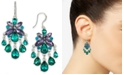 Charter Club Silver-Tone Stone Chandelier Earrings, Created for Macy's