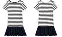 Polo Ralph Lauren Big Girls Striped Stretch Ponte Dress