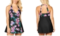 Island Escape Floral-Print Halter Swimdress, Created For Macy's