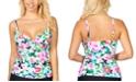 Island Escape Honey Bloom Gemini Printed Underwire Tankini, Created For Macy's