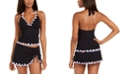 Profile by Gottex Tricolore Halter Tankini Top & Tricolore Ruffled Swim Skirt, Created For Macy's