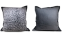 "Estex Home Fashions Reversible Velvet Pinsonic Fleece 20"" Square Decorative Pillow"