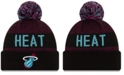 New Era Miami Heat Blackout Speckle Knit Hat