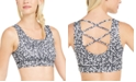 Ideology Heart-Print Strappy-Back Low-Impact Sports Bra, Created for Macy's