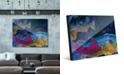 "Creative Gallery Splash Coast in Blue Abstract 24"" x 36"" Acrylic Wall Art Print"