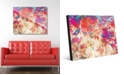 "Creative Gallery Splatter Shop Vermillion Abstract 20"" x 24"" Acrylic Wall Art Print"