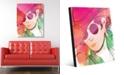 "Creative Gallery Scarlet Wash Diva Abstract 24"" x 36"" Acrylic Wall Art Print"
