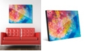 """Creative Gallery Vibrant Scarlet Willow Tree Abstract 24"""" x 36"""" Acrylic Wall Art Print"""