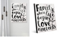 """Creative Gallery Family - Where Life Beings in Black 20"""" x 24"""" Acrylic Wall Art Print"""