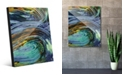 Creative Gallery Kashima in Blue Abstract Acrylic Wall Art Print Collection
