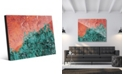 Creative Gallery Splotch Teal Green Rust Abstract Acrylic Wall Art Print Collection