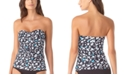 Anne Cole Printed Twist-Front Strapless Tankini Top