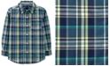 Carter's Little & Big Boys Plaid Cotton Shirt