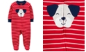 Carter's Baby Boys Footed Striped Dog Sleep and Play