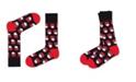 Love Sock Company Santa Organic Cotton Men's Dress Socks