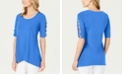 JM Collection Petite Braided-Sleeve Tunic, Created For Macy's