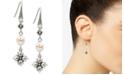 Patricia Nash Silver-Tone Freshwater Pearl (5mm) Floret Drop Earrings
